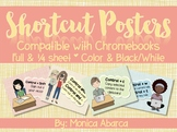 Computer Shortcut Posters - Compatible with Chromebooks