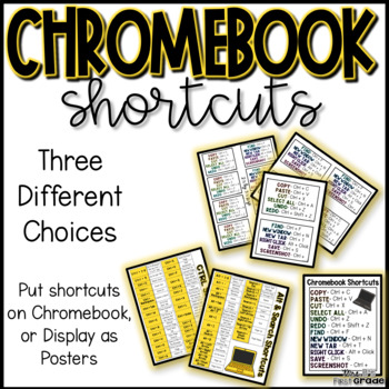 Chromebook Shortcut Posters And Labels By Mrs B First Grade Sarah