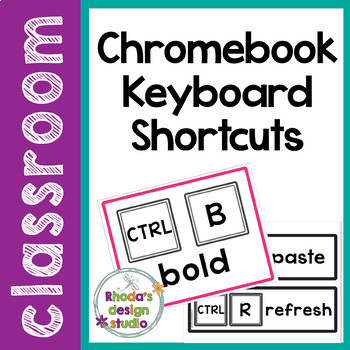 Chromebook Shortcut for Keyboard Posters Technology Literacy