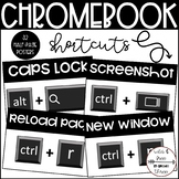 Chromebook Shortcuts (32 Black & White Half-page Posters)