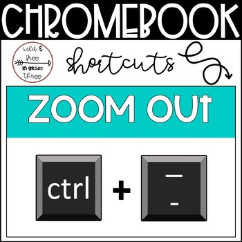 Chromebook Shortcuts (32 Color Half-page Posters)