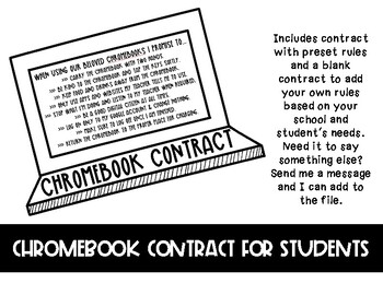 Chromebook Student Contract