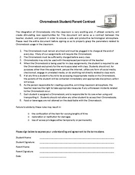 Chromebook and Library Contract