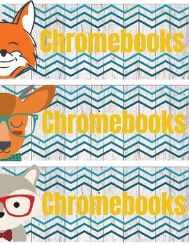 Chromebook/ i-Pad cart labels