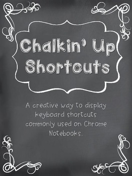 Chromebook or Chrome Notebook Chalkin' Up Shortcuts