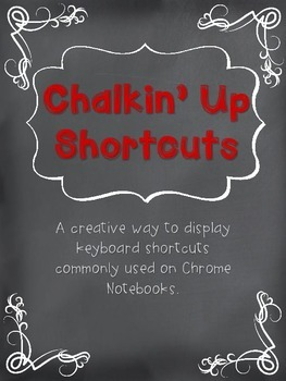Chromebook or Chrome Notebook Chalkin' Up Shortcuts Red