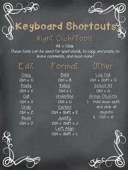Chromebook or Chrome Notebook Chalkin' Up Shortcuts Tan Burlap