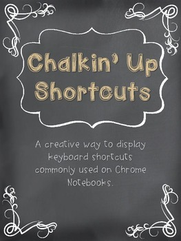 Chromebook or Chrome Notebook Chalkin' Up Shortcuts Tan Burlap