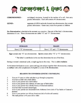 Chromosomes & Genes Lesson