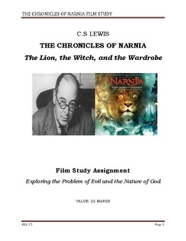 Chronicles of Narnia- Film Study Worksheet + ANSWERS (for middle/HS religion)