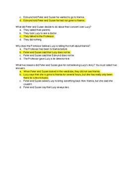 Chronicles of Narnia Quiz 1