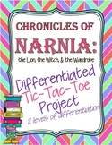 Chronicles of Narnia Tic-Tac-Toe Menu Differentiated Project