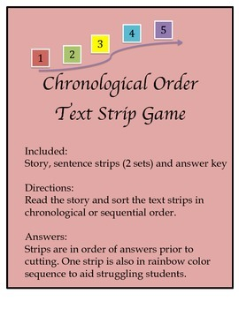 Chronological Sort Card Game using Fiction - FUN