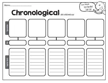 Chronological Graphic Organizer
