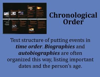Chronological Order Poster - Intermediate Elementary School Grades