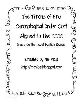 Chronological Order Sort for the Throne of Fire