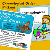 Chronological Order Text Structure -Task Cards and Slide P