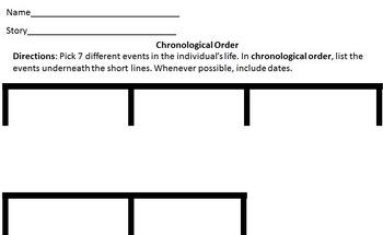 Chronological Order Timeline Worksheet