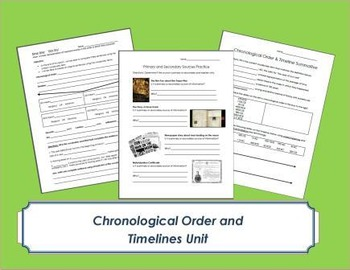 Chronological Order and Timelines Unit