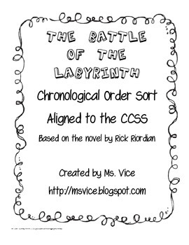 Chronological Order sort for Rick Riordian's The Battle of the Labyrinth