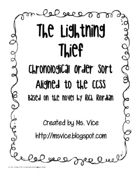 Chronological Order sort for Rick Riordian's The Lightning Thief