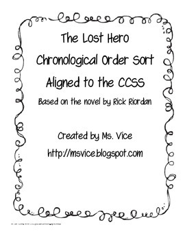 Chronological Order sort for The Lost Hero