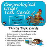 Chronological Order- Text Structure Task Cards