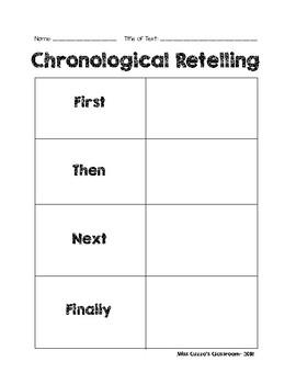 Chronological Retell Graphic Organizer