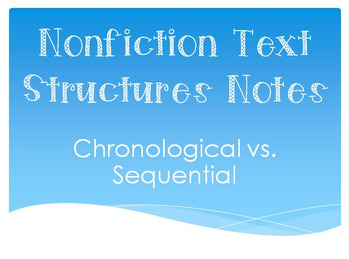 Chronological vs. Sequential Anchor/Handout/Notes