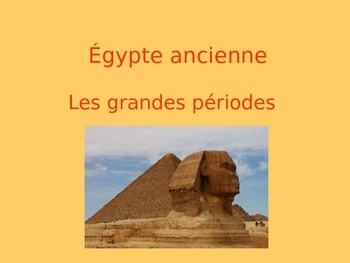 Chronology of Ancient Egypt in FRENCH