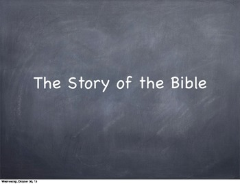 Chronology of the BIble Presentation