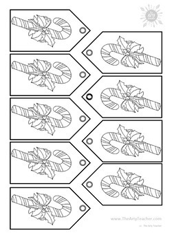Christmas Gift Tags for Coloring or Painting