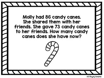 Christmas Word Problems {Freebie}