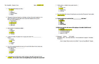 The Chrysalids: 17 Chapter Quizzes (EASY TO MARK) (M/C, Short Answer, Paragraph)