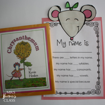 Chrysanthemum | Book Study, Craftivity, Class Book