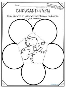 Chrysanthemum Activities {English and Spanish}