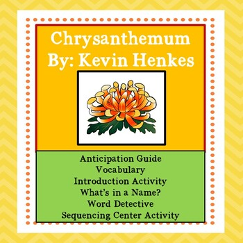 Chrysanthemum: Activities to Engage Readers