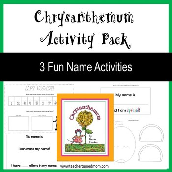 Chrysanthemum Activity Pack (Lower Elementary - NO PREP, Print & Go)
