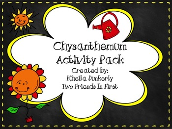 Chrysanthemum Back to School Activity Pack