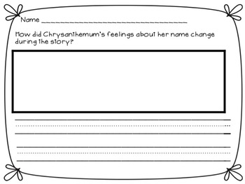 Chrysanthemum Back to School Activity Pack