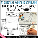 Chrysanthemum Back to School Activities and Printables