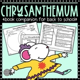 Chrysanthemum Book Companion for Back to School