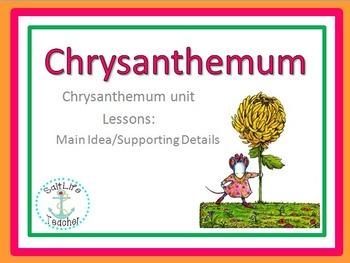 Chrysanthemum Book Study Activities: Comprehension, Main Idea, Vocab