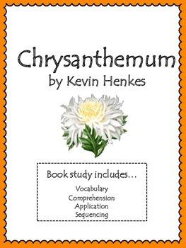 Chrysanthemum Book Study and Activities: Vocab, Comprehens