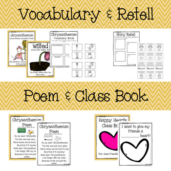 Chrysanthemum Book Study with Editable Name Activities