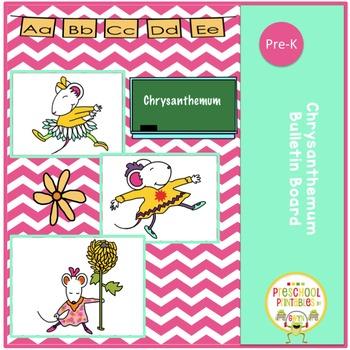 Chrysanthemum Bulletin Board Clipart