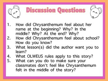 Chrysanthemum Character Education