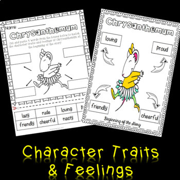 Chrysanthemum Character Trait Activities