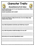 Chrysanthemum Character Traits Worksheets