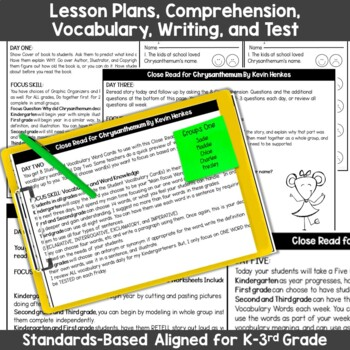Chrysanthemum Interactive Read Aloud with Lesson Plans and Activities